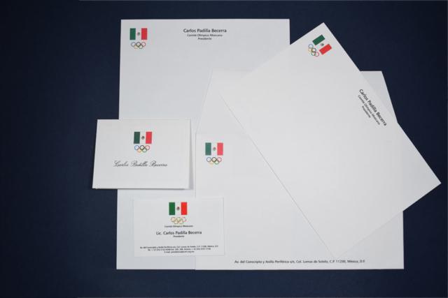 Ejemplo de Papelería Comité Olímpico Mexicano