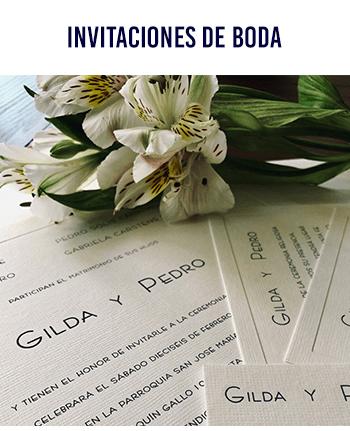 Box Menu Invitaciones de Boda