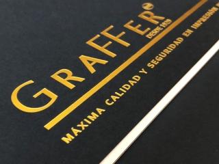 Bloc con impresión de Logo GraFFer en Hot Stamping