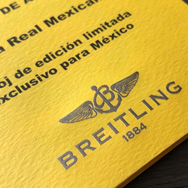Impresión de Certificado de Autenticidad para Breitling